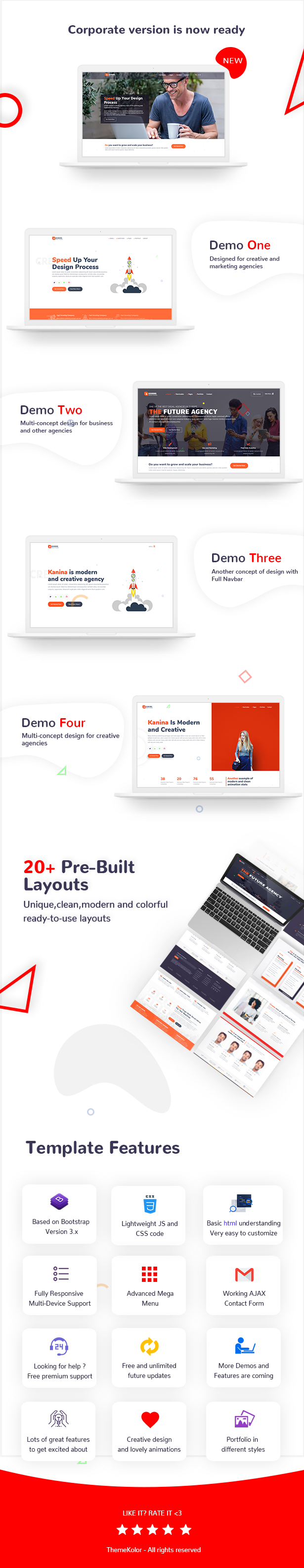 Kanina - Multipurpose Business and Creative Agency HTML5 Template - 2